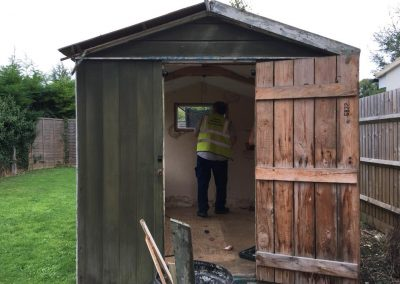 Shed demolition and green house demolition from Crown Clearance in Cheltenham