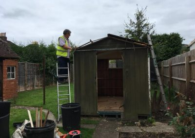 professional shed demolition and green house demolition from Crown Clearance in Cheltenham
